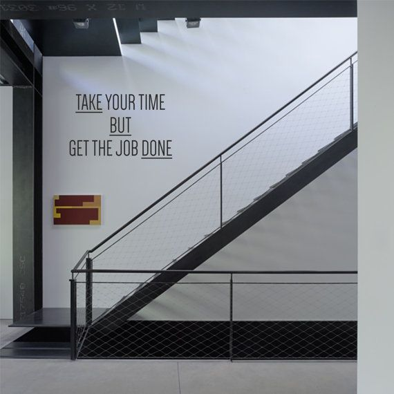 Corporate vinyl wall decals - Take your Time by cutnpasteshop