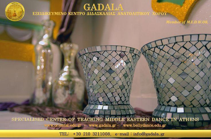GADALA Oriental Belly Dancing Studio www.oriental.edu.gr 2103211008 info@gadala.gr το μοναδικό Εξειδικευμένο Κέντρο Διδασκαλίας Ανατολίτικου Χορού που, για πρώτη φορά στην Ελλάδα, σας δίνει την δυνατότητα απόκτησης αναγνωρισμένου  τίτλου σπουδών με την εγκυρότητα και αξιοπιστία του Παγκόσμιου Οργανισμού Ανατολίτικου Χορού M.E.D.W.OR. (Middle Eastern Dance World Organization For Distinguishing The Cultural Heritage And Folk Art Of Egypt And Countries Of The Middle East).