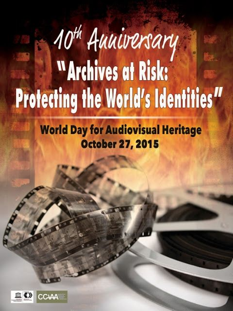 "Poster: World Day for Audiovisual Heritage 2015 #wdavh2015  The UNESCO Coordinator for WDAVH 2015, Belina SB Capul, has released two studies of the proposed official poster to highlight this year's theme:  ""Archives at Risk - Protecting the World's Identities""  The poster designs were developed by the Philippine Information Agency's Creative and Production Services Division."