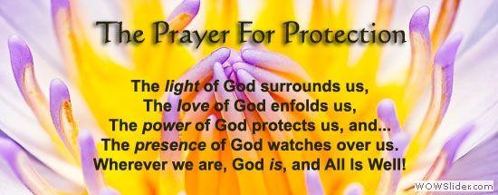 Unity Church - Prayer of protection