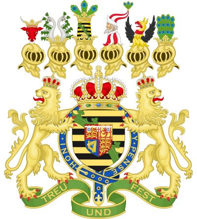 Coat of Arms of Alfred, Duke of Saxe-Coburg and Gotha.svg