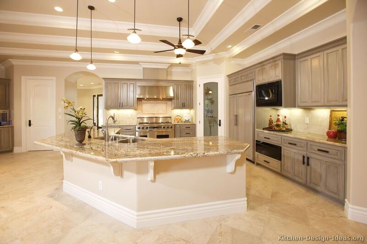grey kitchen cabinets | ... of Kitchens - Traditional - Gray Kitchen Cabinets (Kitchen #3