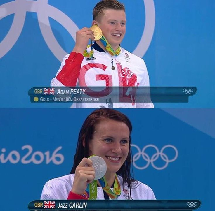 Adam Peaty & Jazz Carlin #TeamGB #Rio2016 #Olympics