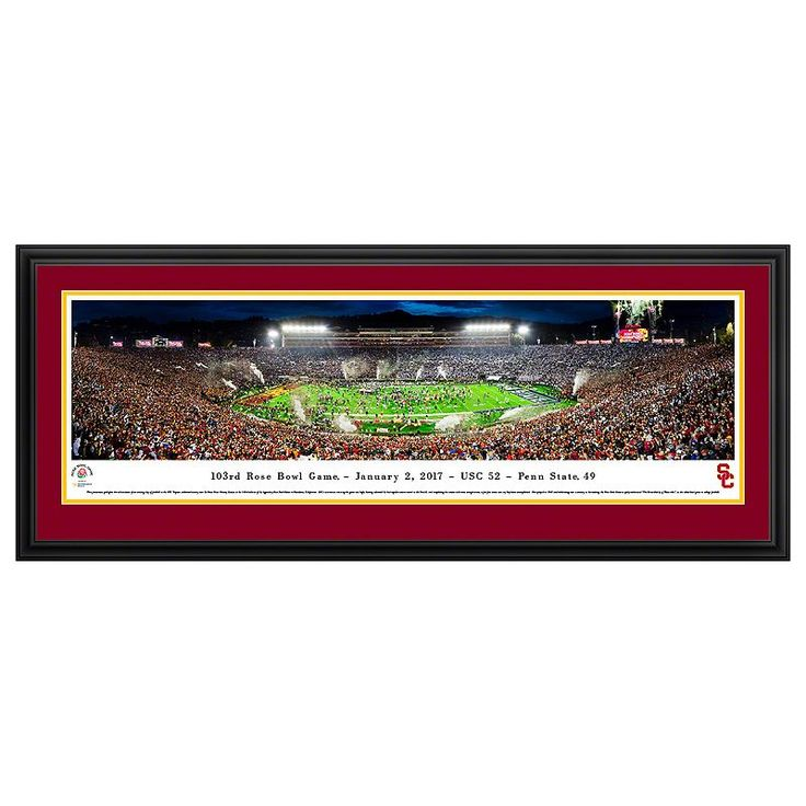 USC Trojans Rose Bowl Game Framed Wall Art, Multicolor