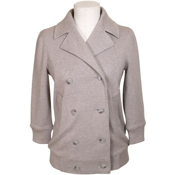 Marc By Marc Jacobs Laeticia Jacket ($110) ❤ liked on Polyvore featuring outerwear, jackets, grey, peacoat jacket, gray pea coat, marc by marc jacobs, lightweight jackets and grey jacket