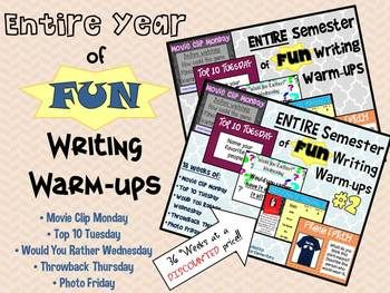 writing warm ups In the video i present a warm-up routine that i use with my students at the beginning of our daily writing workshop period the routine has become an important class ritual, and it prepares.