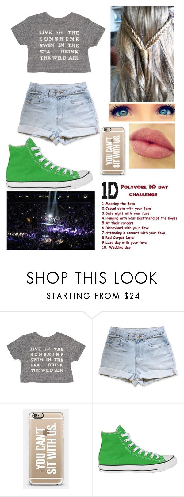 """""""One Direction Concert"""" by taytay9502 ❤ liked on Polyvore featuring Billabong, NYX and Converse"""