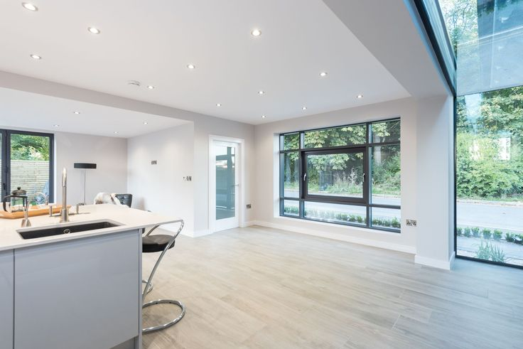 Interior Glass Link Kitchen Extension