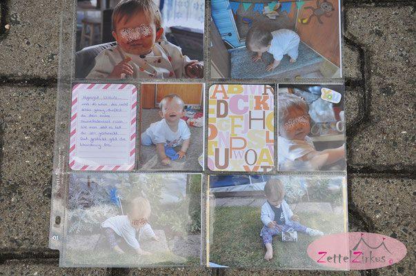 Stampin Up beim ZettelZirkus: Project Life Album vom ersten Jahr, Babys 10. Monat