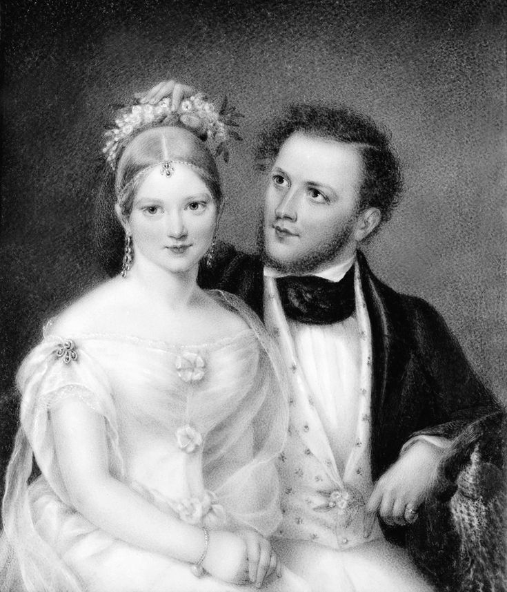 """Ann Hall (1792‒1863), """"Mr. and Mrs. Samuel Ward (Emily Astor),"""" 1837. Watercolor on ivory, 5 1/2 x 4 1/2 in. Photographed in May 1955 at """"Rokeby,"""" Barrytown, New York. The Frick Collection / Frick Art Reference Library Photoarchive. #femaleartist #miniatures #womanartists #fricklibrary #highsociety"""