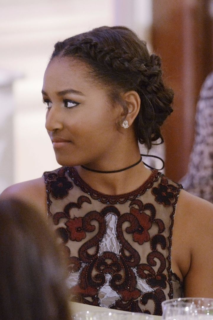 Sasha Obama's Braided Updo Will Give You Hair Goals