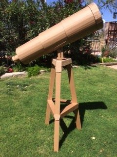 Cardboard telescope for Galactic Starveyors