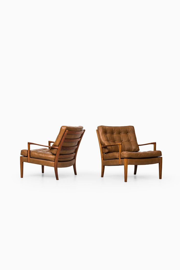 Rare Pair Of Easy Chairs Model Löven Designed By Arne Norell And Produced  By Arne Norell