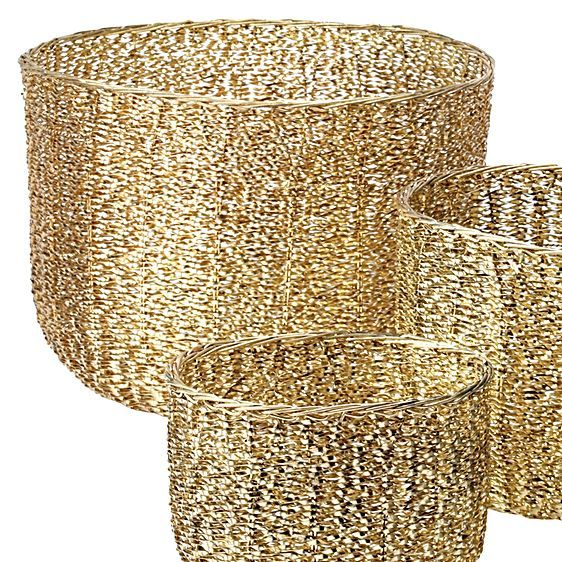 Midas Basket (Set of 3) by LS Collections