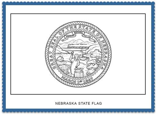 150 best usa state flags images on pinterest states for Nebraska flag coloring page