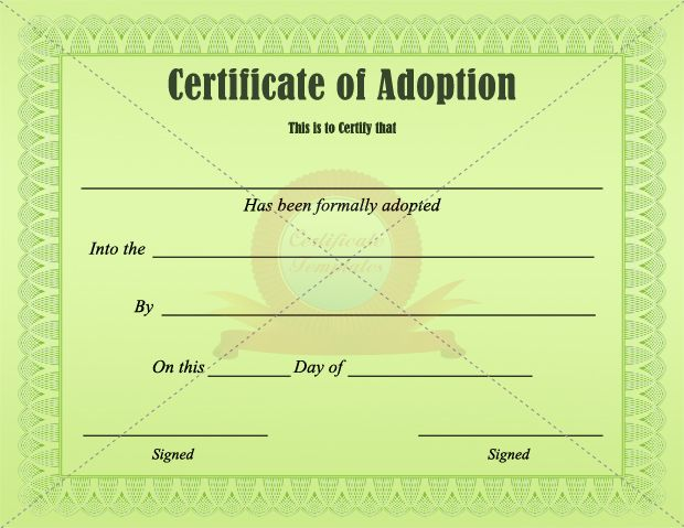 Adoption Certificate ADOPTION CERTIFICATE TEMPLATES Pinterest