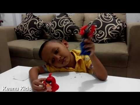 Unboxing Mcdonalds Happy Meal Red Angry Birds the Movie 2016 Toys Keanu ...