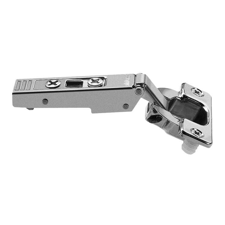 (Grey) 120-degree Straight-arm Clip-top Press-in Self-closing Cabinet Hinge (120 Degree Straight Arm Clip Top Press-In Self)