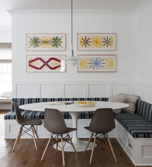 Reggeliző sarkok kialakítása egy modern konyhában