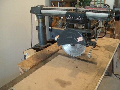 Radial Arm Saw set-up