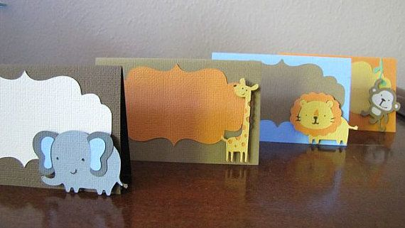 Safari Party Food Tent Cards Safari Party Place by ScrapYourStory