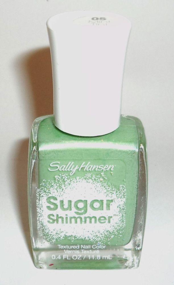 SALLY HANSEN #05 Mint Tint - SUGAR SHIMMER TEXTURED NAIL POLISH