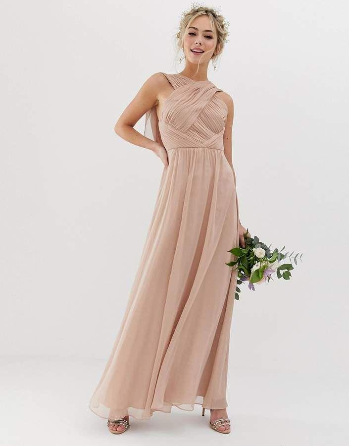 3b0c19815 ASOS DESIGN Bridesmaid cross front soft drape maxi dress | Dream ...