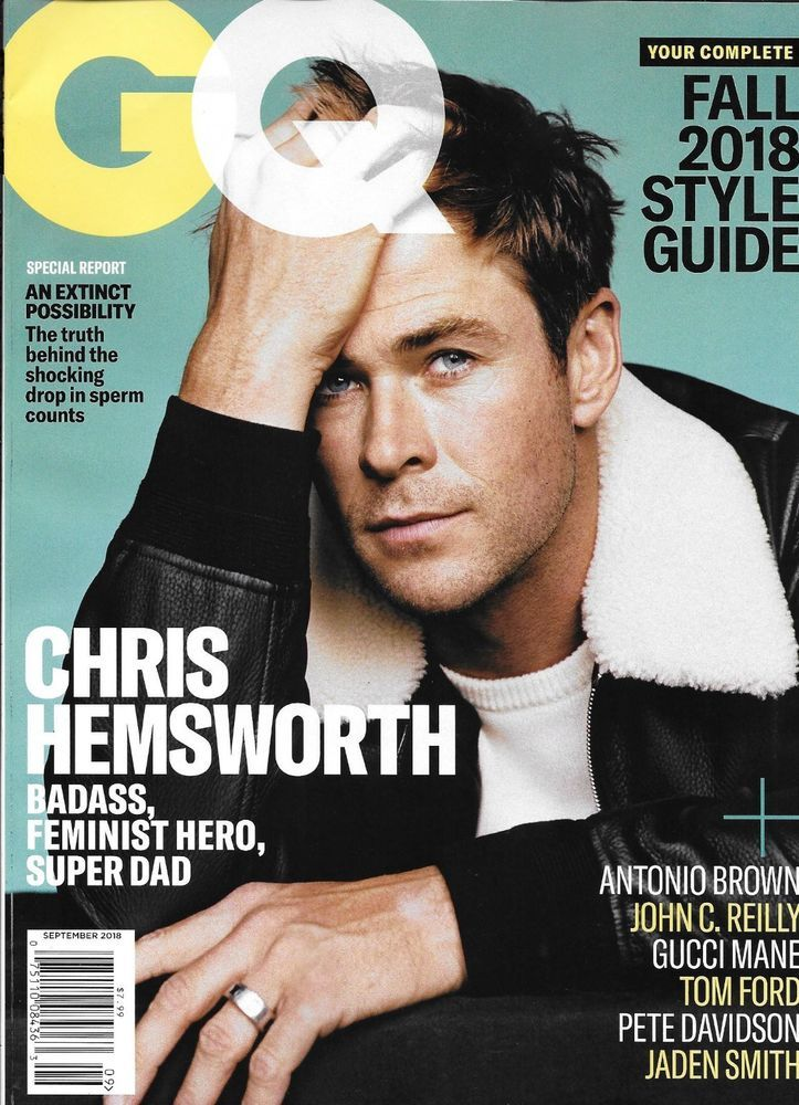 4f85328cefd350 Gq Magazine Chris Hemsworth Fall Fashion Antonio Brown Gucci Mane John C  Reilly
