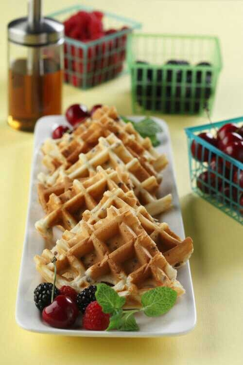 Lentil waffles. You would never even know there are lentils in them!