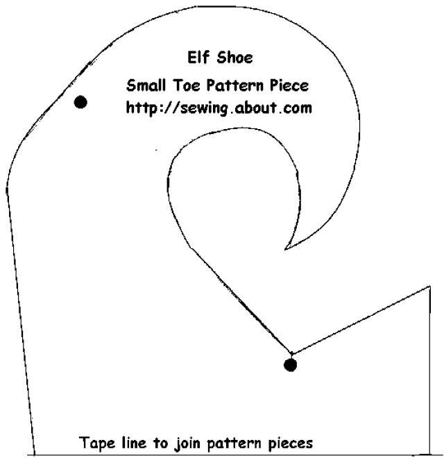 Elf Shoe Small Toe Pattern Piece