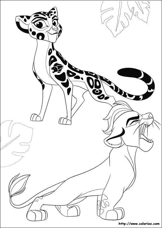 Coloriage La Garde du Roi lion dessin à imprimer et colorier