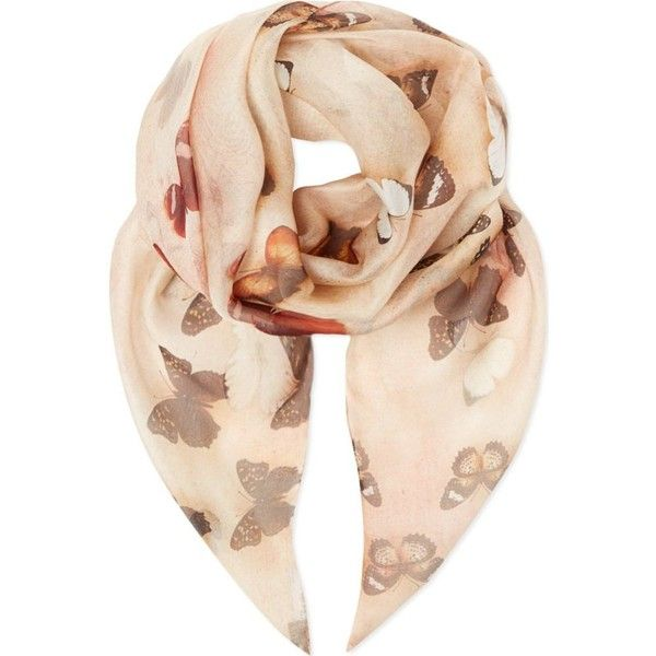 GIVENCHY Butterfly scarf found on Polyvore