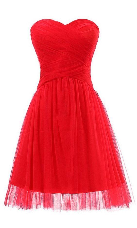 simple short red prom dress, #redpromdresses, #reddresses, #homecomingdresses, #teenfashion