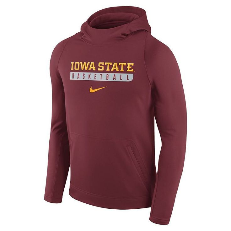 Men's Nike Iowa State Cyclones Basketball Fleece Hoodie, Size: Small, Red Other