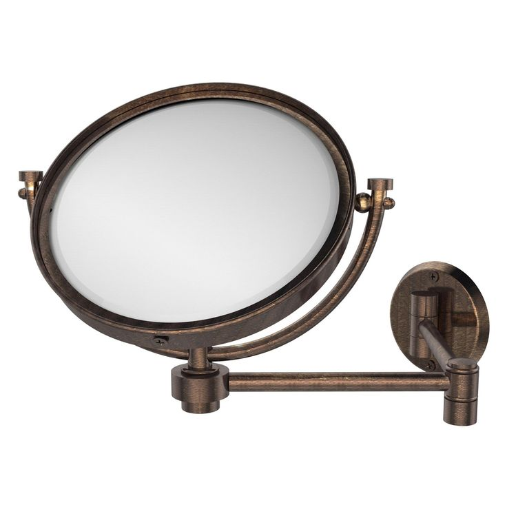 Wall Mounted Extending Makeup Mirror With Magnification