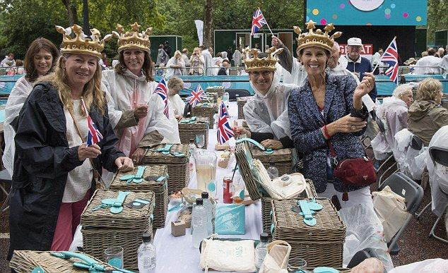 Guests attended the special street party in central London on Sunday to celebrate the Queen's birthday