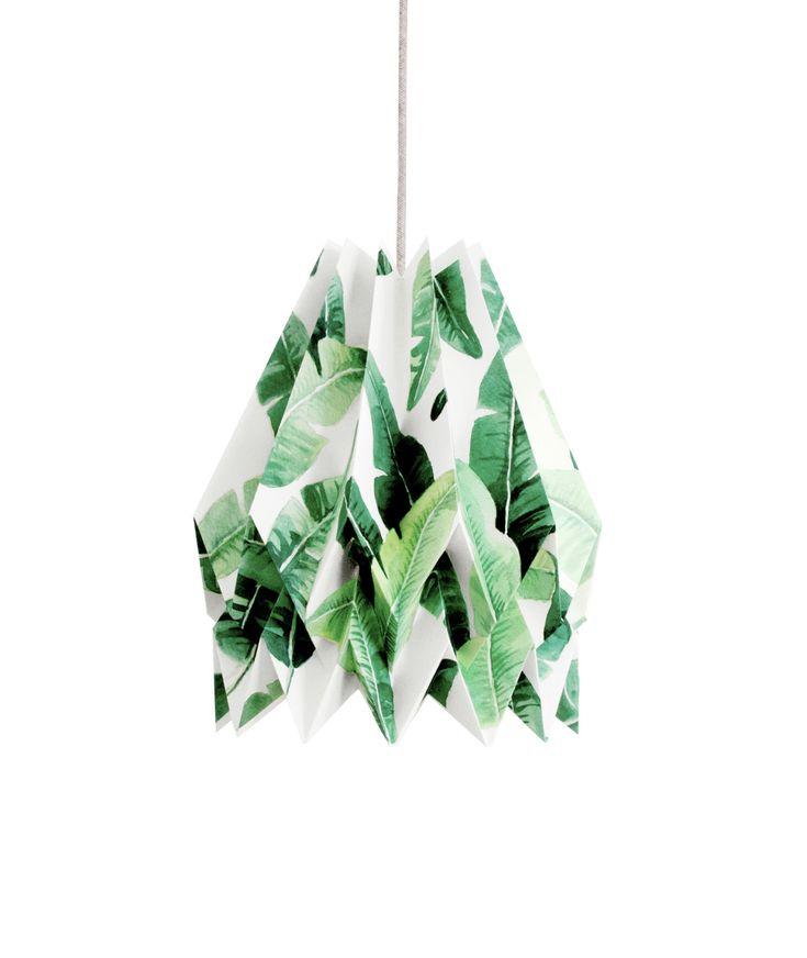 Lampada origami TROPICALE Edizione speciale Paralume di blaanc