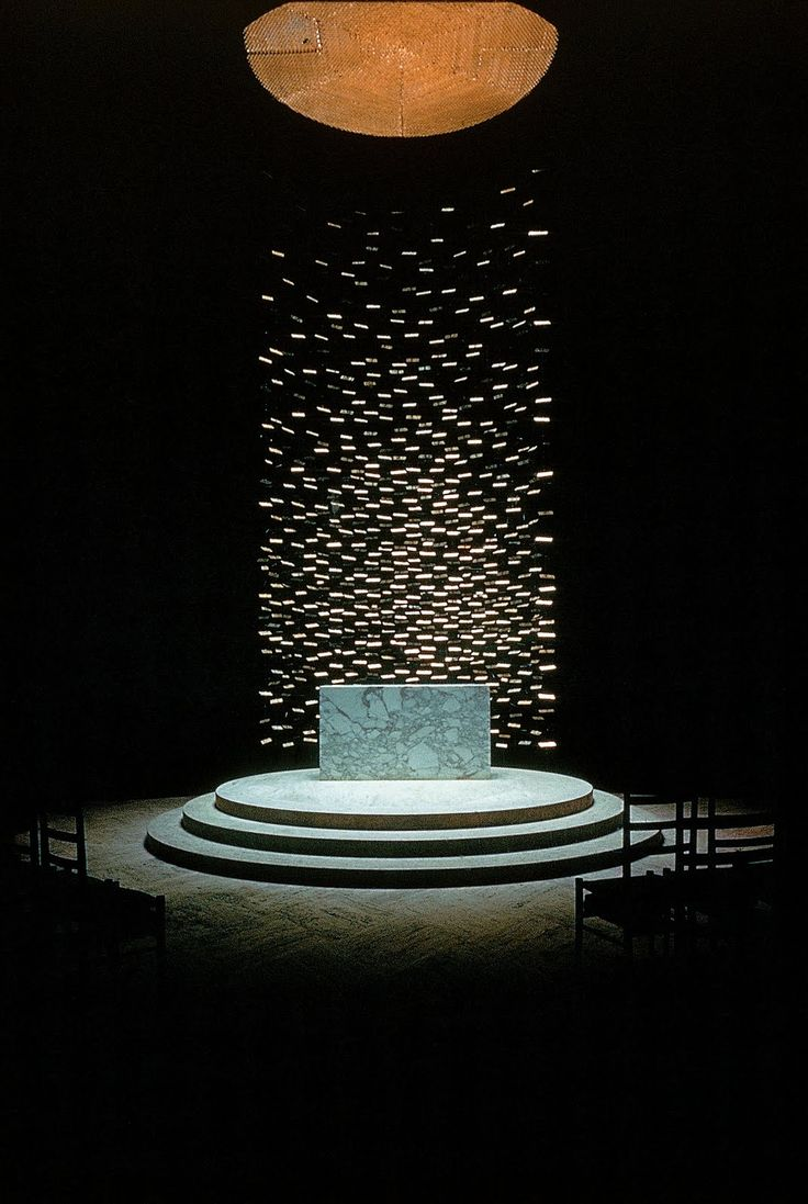 yet another view of the altar at Massachusetts Institute of Technology Chapel, Cambridge (1950-55) by Eero Saarinen