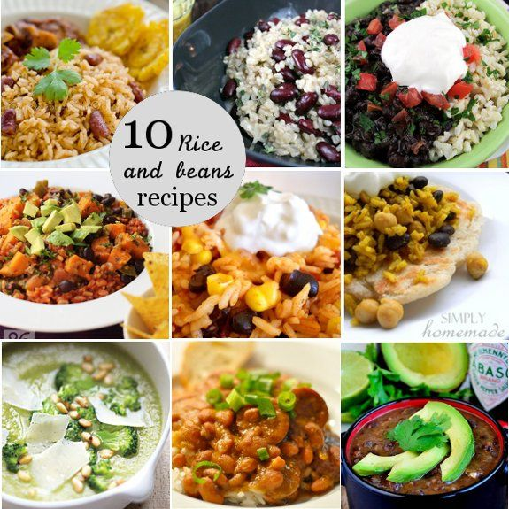 A Frugal Lifestyle Blog: Rice and Beans Recipe Roundup