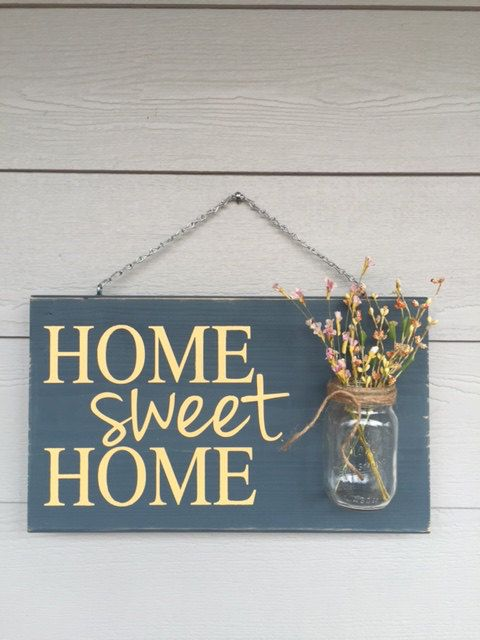Personalizado Regístrate rústico hogar dulce hogar por RedRoanSigns