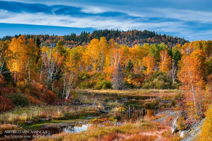 Les collines D'Alembert à l'automne par Mathieu Dupuis