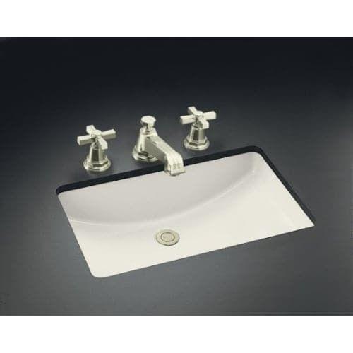 kohler k2215 ladena undermount bathroom sink with overflow white