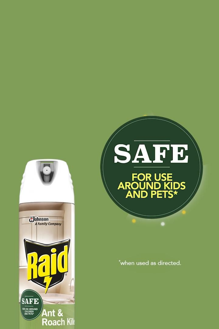 Raid Ant Roach With Plant Based Ingredients Is Safe For Use Around Kids And Pets Video In 2020 Animals For
