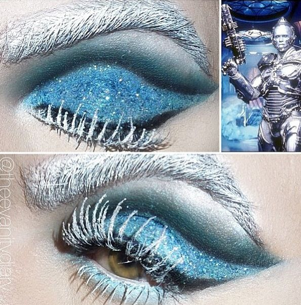 Mr. Freeze makeup. Winter makeup.