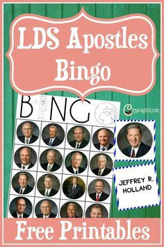 Fun LDS Apostles Bingo game to play before General Conference