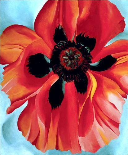 Georgia O'Keeffe - Red Poppy IV