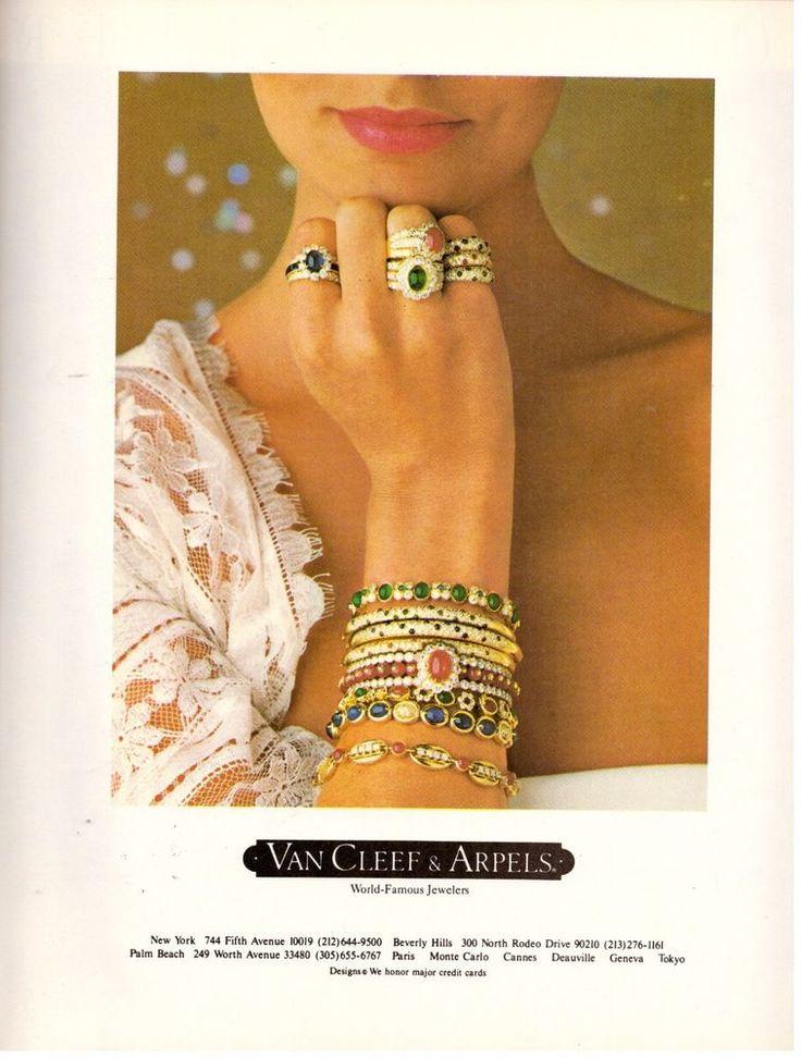 1980 Van Cleef & and Arpels Jewelry Retro Print Ad Vintage Advertisement VTG 80s | eBay