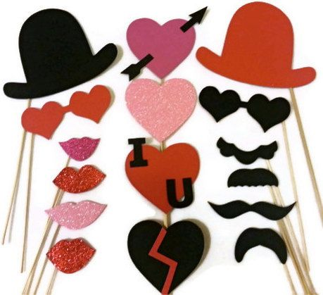 Valentines Photo Booth Props / Valentines Day/ by FoamyFactory, $38.00
