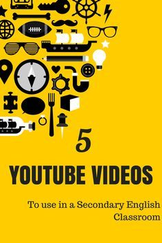5 YouTube Videos to use in a Secondary English Classroom - These videos are great supplements to lessons, time fillers, and entertaining ways to break up or shake up your middle school or high school English classroom.
