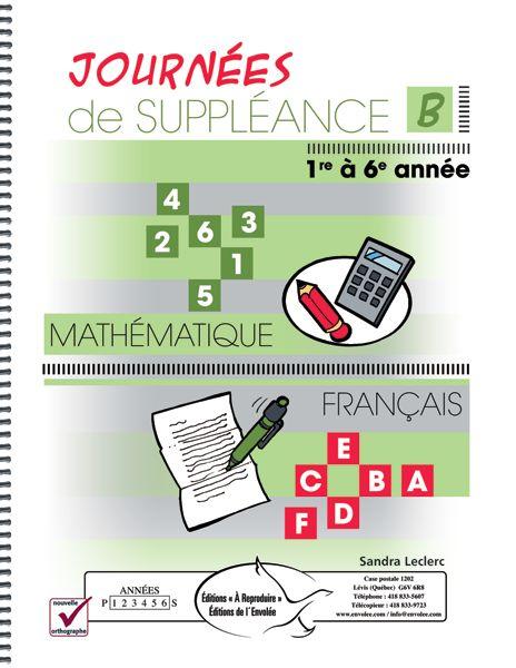 Journées de suppléance B est conçu spécialement pour les occasions de suppléance de la 1re à la 6e année. Il ne contient que des exercices pour le français et les mathématiques. Les activités sont ludiques, originales et requièrent peu de matériel. Plusieurs d'entre elles favorisent la discussion et l'échange au sein du groupe.